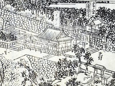 花洛名勝図会の拝殿