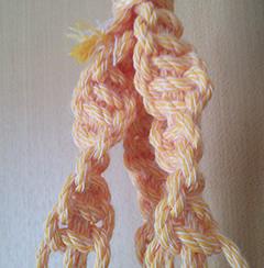 マクラメねじり編み