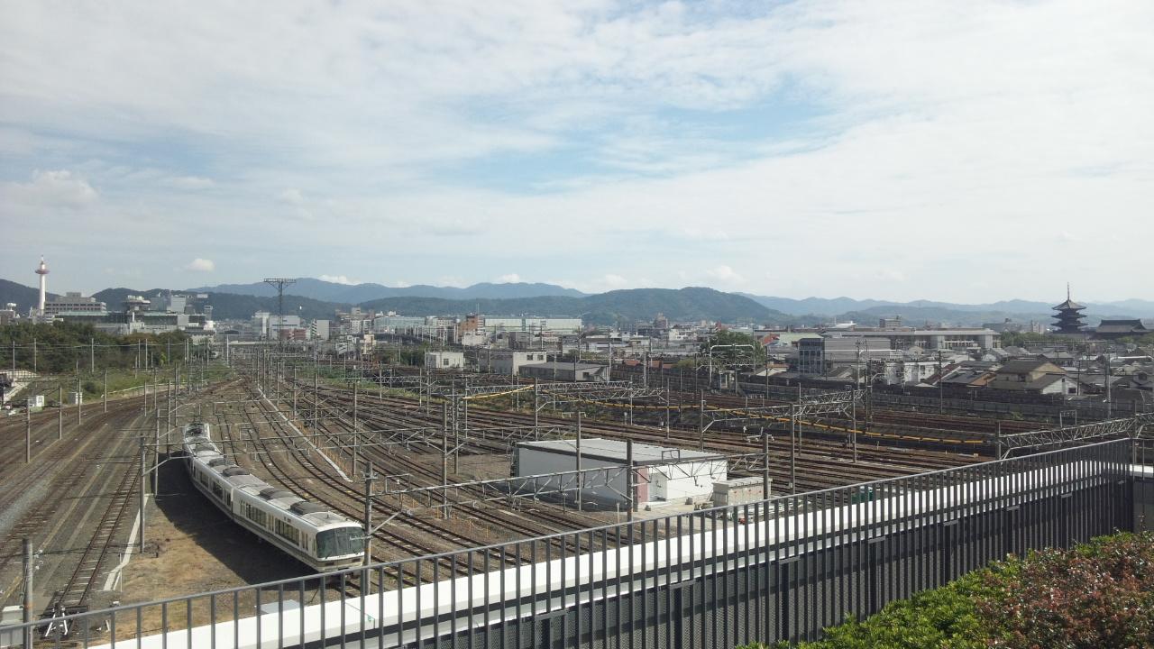 屋上より京都駅方面