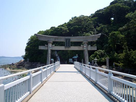 竹島の入り口。