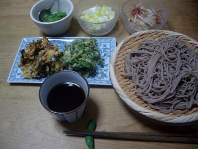 夕食(お蕎麦)