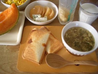 朝食(ホッとサンド)