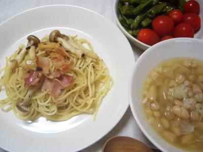 パスタとスープ