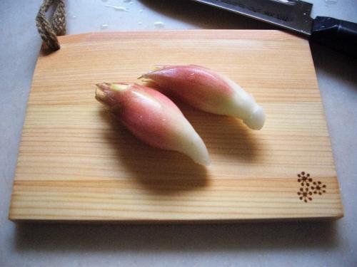 薬味まな板(茗荷)