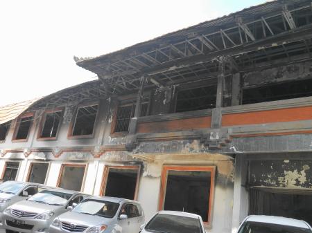火事で焼けた王宮の建物