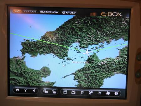 飛行航路の画面