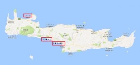 クレタ島地図