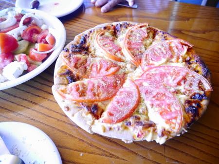ピザの昼食