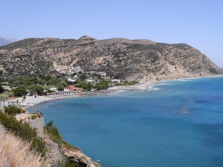 高台からのアギア・ガリニビーチ