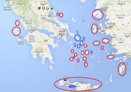 2016年8月ギリシャ旅行地図