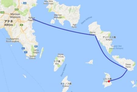 シロス島までの道のり