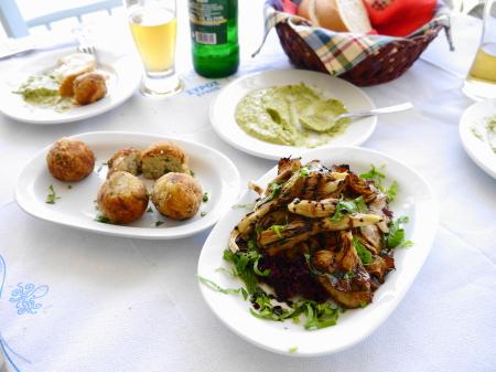 前菜3品の昼食