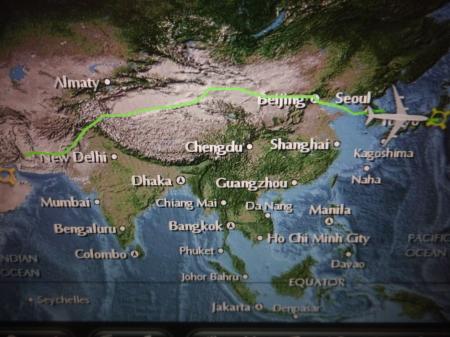 成田までの飛行ルート