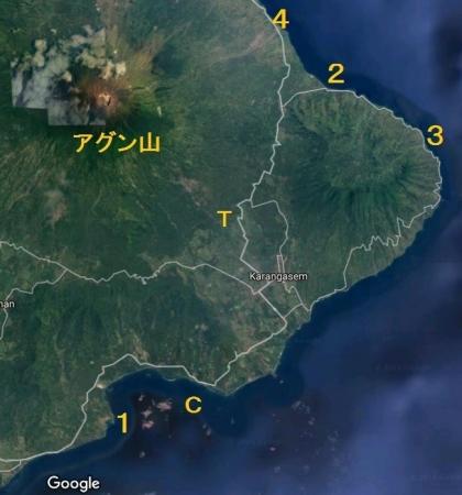 バリ島東部地図