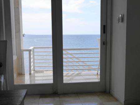 ガラス張りのドア