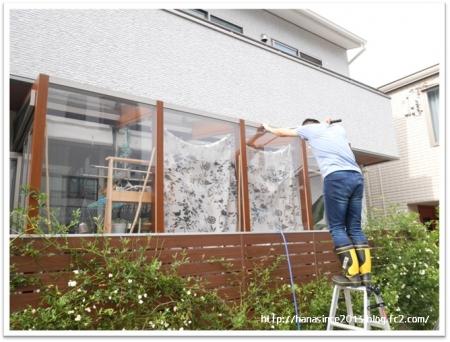 サンルーム、ポリカーボネイト屋根の掃除