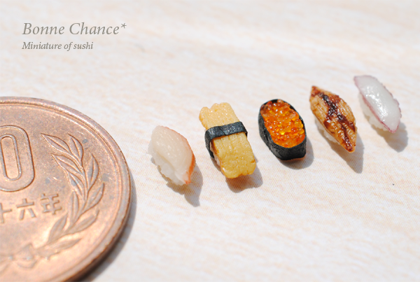 Miniature of sushi