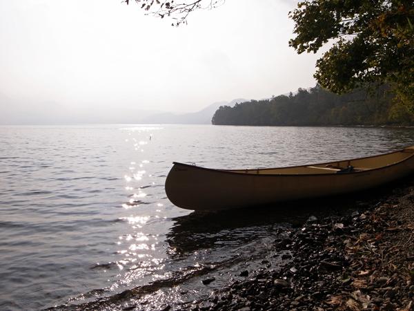 支笏湖とカナディアンカヌー11