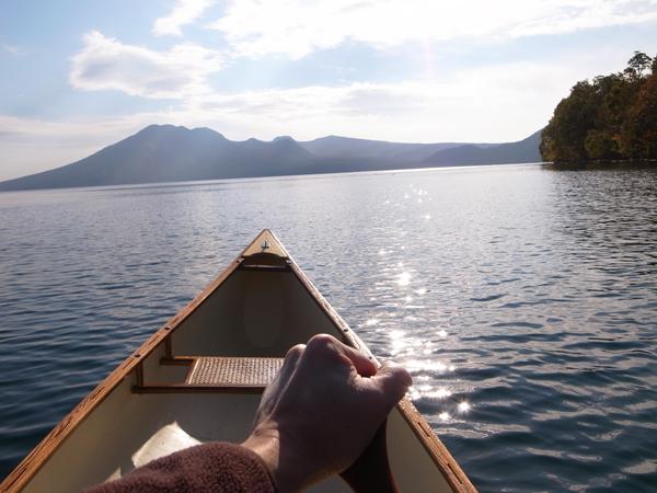 支笏湖とカナディアンカヌー12