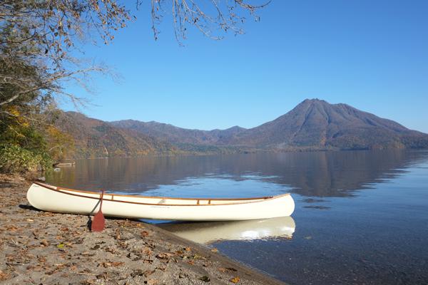 支笏湖とカナディアンカヌー15
