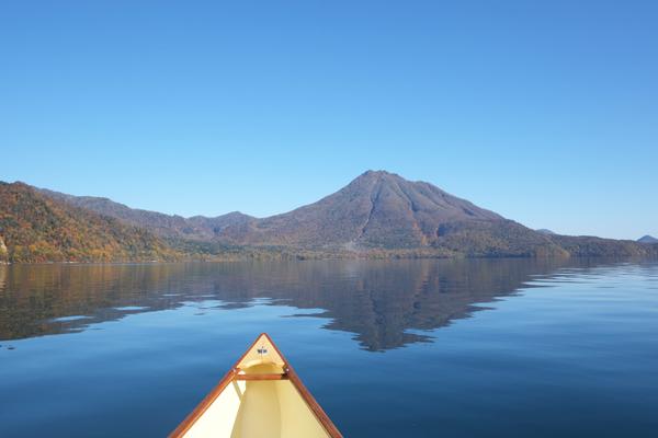 支笏湖とカナディアンカヌー16