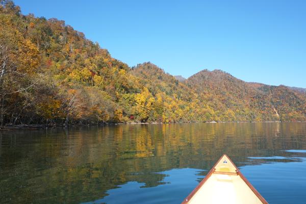 支笏湖とカナディアンカヌー17