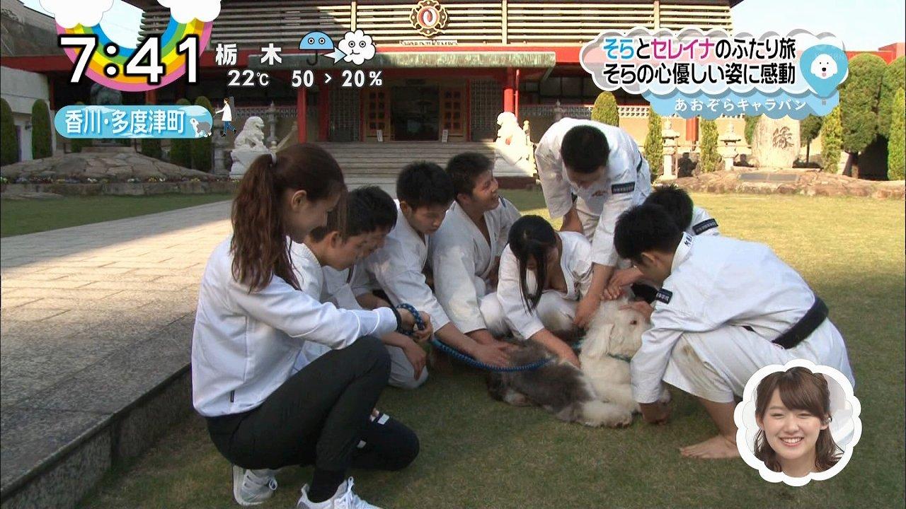 日テレ「ZIP!」に出演した少林寺女子が道着から胸チラ(おっぱいポロリ)