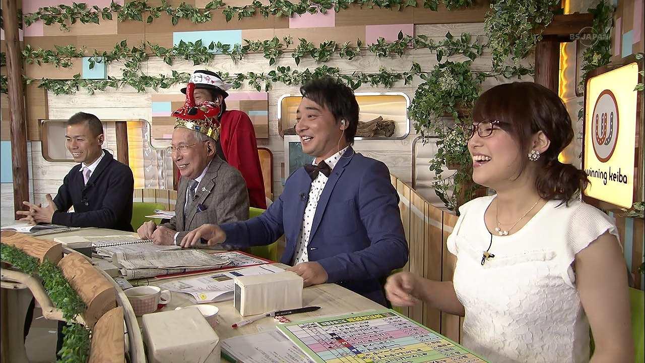 テレ東「ウイニング競馬」の鷲見玲奈アナの着衣横乳