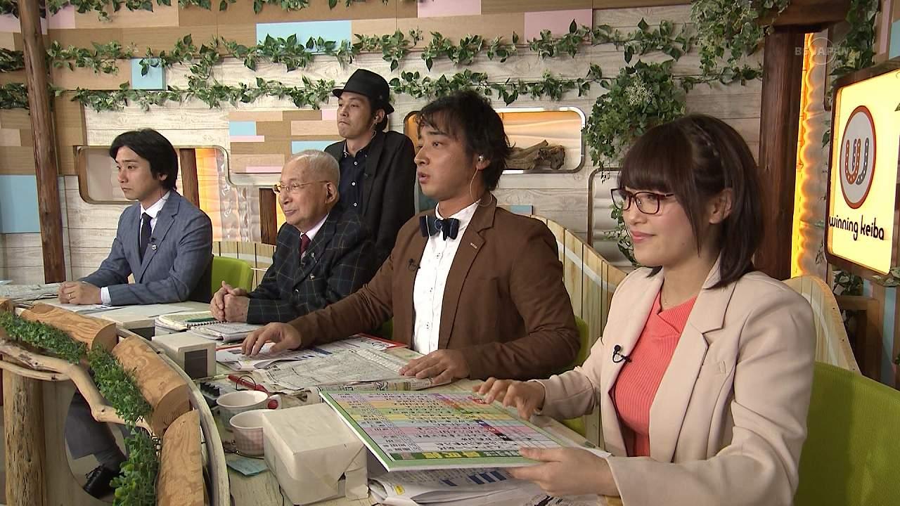 テレ東「ウイニング競馬」でニットを着た鷲見玲奈アナの着衣巨乳