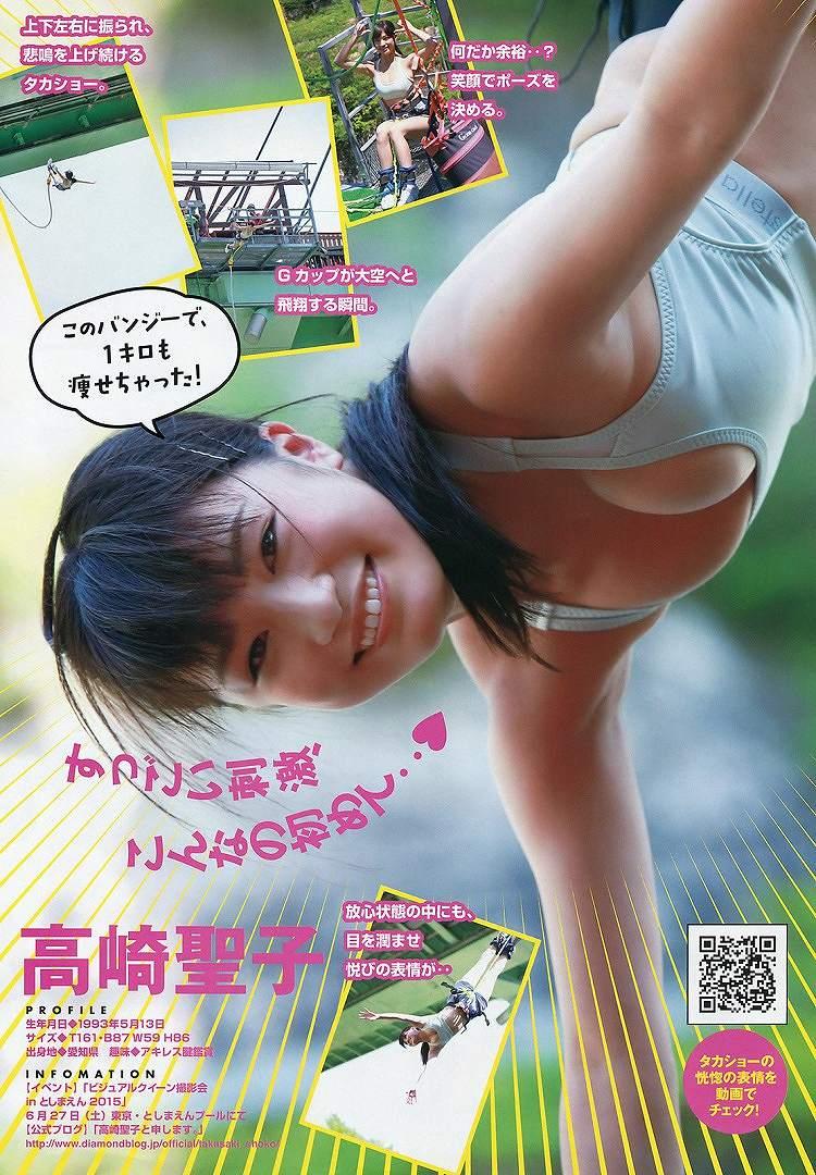 「ヤングマガジン 2015 No.28」高崎聖子の水着グラビア