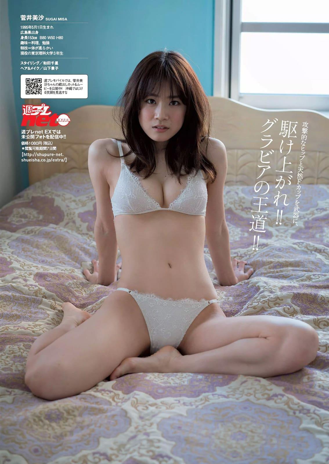 「週刊プレイボーイ 2016 No.18」菅井美沙の下着グラビア