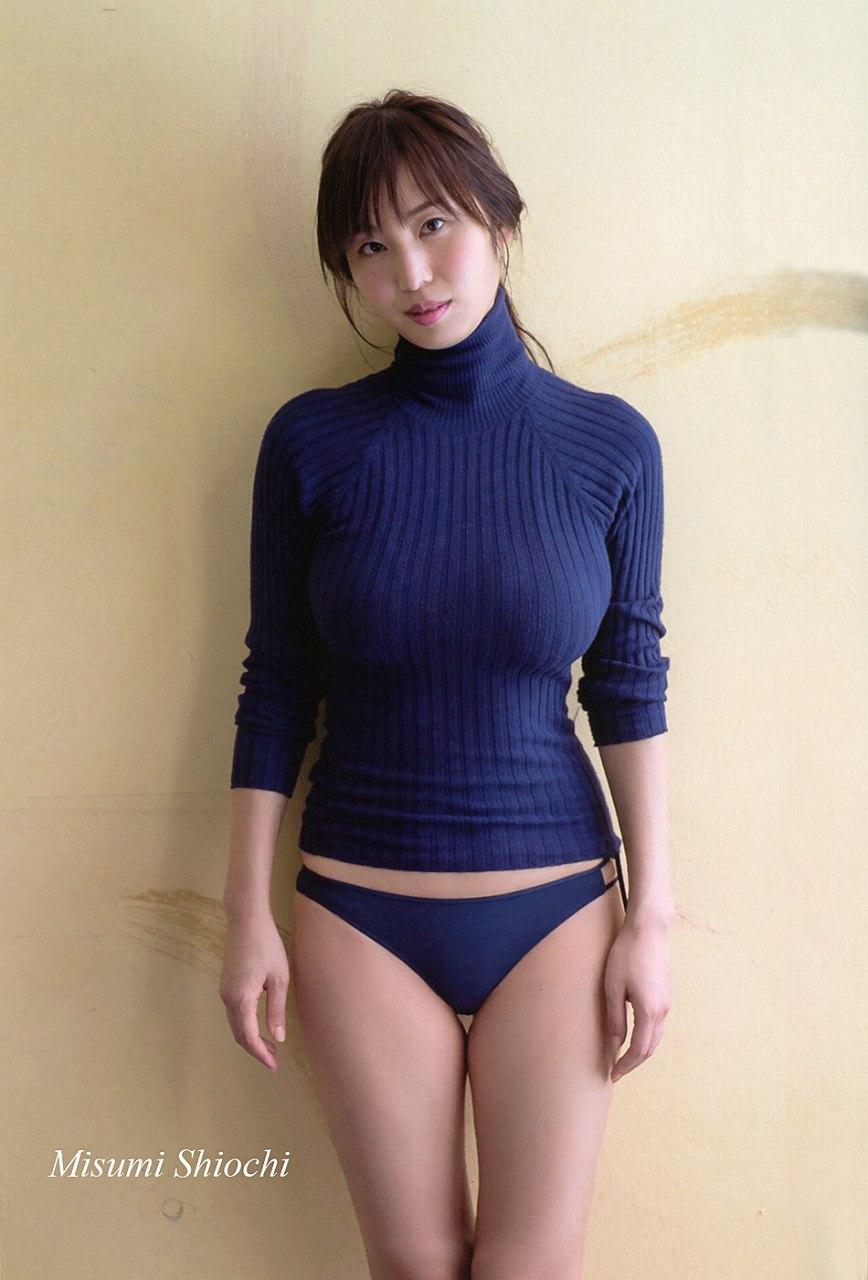 塩地美澄のニット着衣巨乳おっぱい