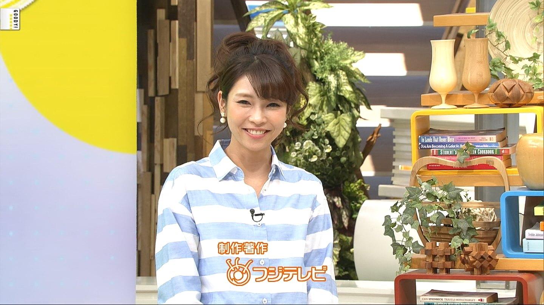 フジテレビ「直撃LIVE グッディ!」で天気を伝える寺川奈津美