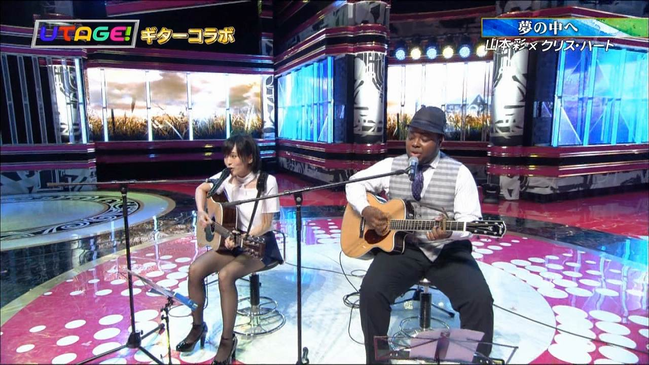 「UTAGE!」でクリス・ハートと共演してパンチラしてる山本彩