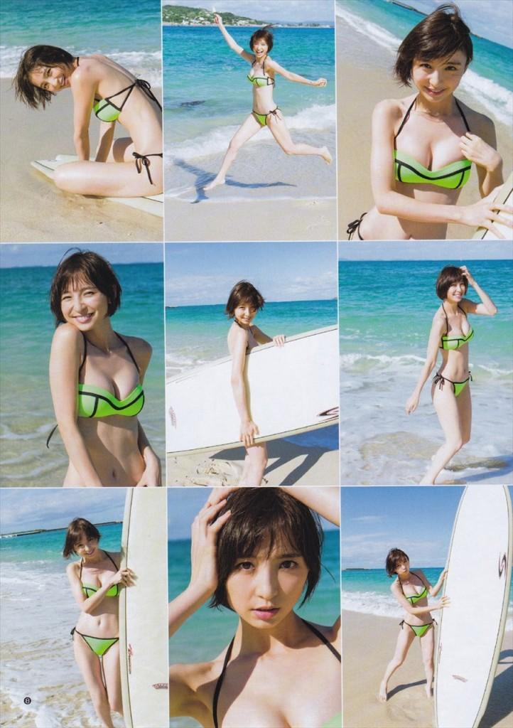 「ヤングジャンプ 2016年 1/22号」篠田麻里子の水着グラビア
