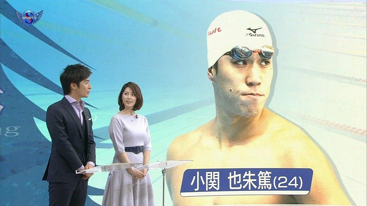NHK「サンデースポーツ」の杉浦友紀アナの着衣巨乳