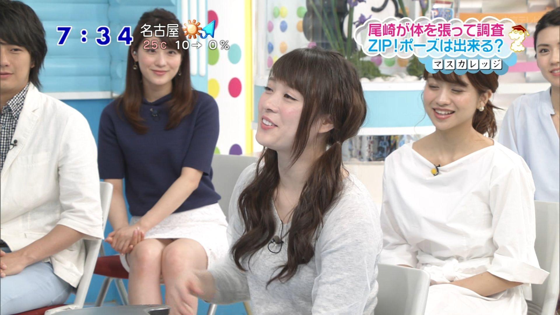 日テレ「ZIP!」、ミニスカートで座ってパンチラしてる郡司恭子アナ