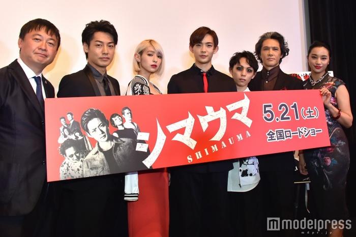 映画「シマウマ」の完成披露上映会に出席した日南響子