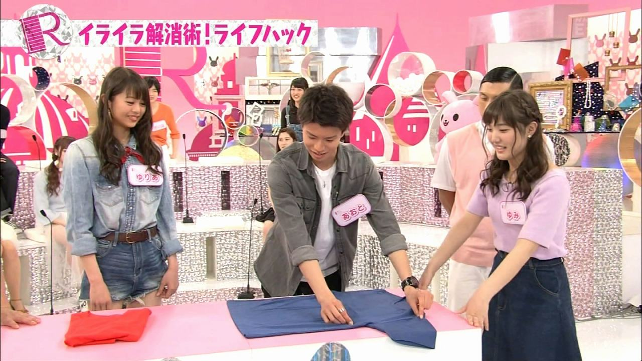 NHK・Eテレ「Rの法則」で乳首ポロリするゆみ(水咲優美)
