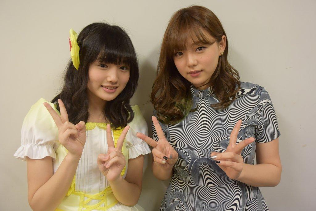 つりビット・安藤咲桜と篠崎愛のツーショット