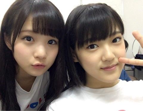 稲場愛香とまいちゃんのツーショット自撮り