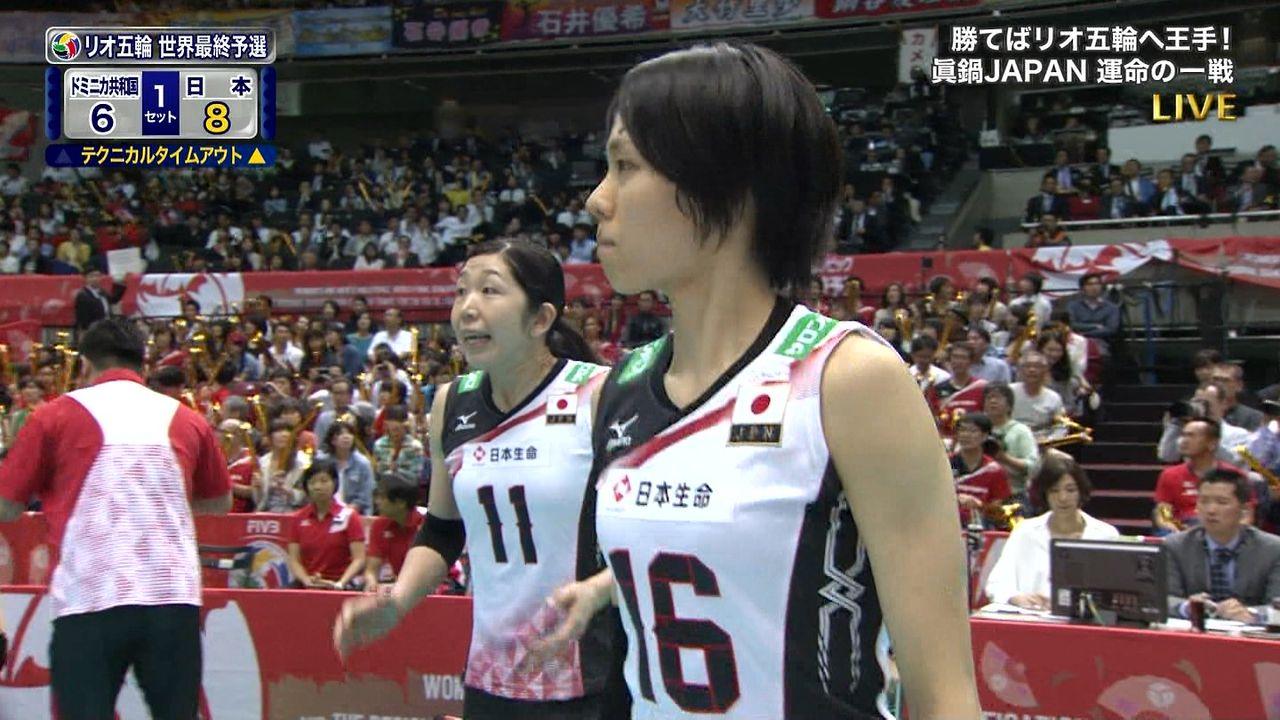 「リオデジャネイロ五輪世界最終予選兼アジア予選女子大会」迫田さおりの着衣巨乳