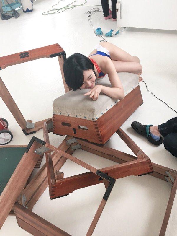 雑誌「UTB (アップ トゥ ボーイ) 2016年 07月号」NMB48・須藤凜々花の競泳水着グラビアオフショット