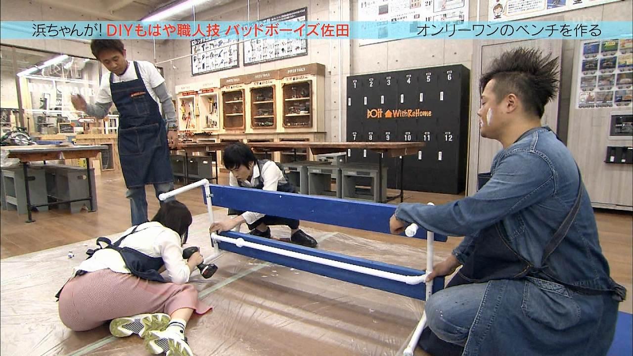 「浜ちゃんが!」で床に座って前に屈みお尻の形が丸出しになってる松井玲奈
