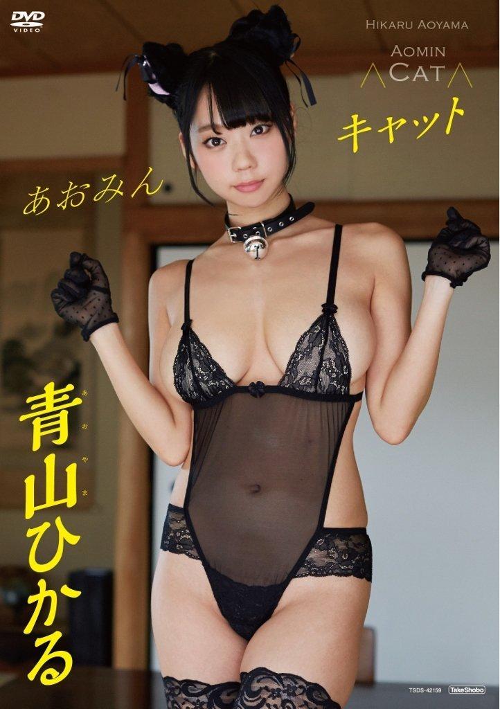 青山ひかるのイメージビデオDVD「あおみんキャット」パッケージ写真