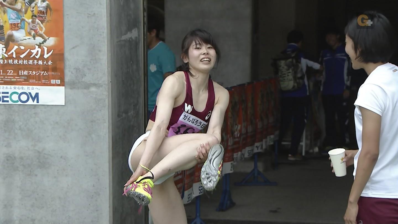 関東インカレ陸上、ピチピチの白いパンツを履いた陸上部女子大生
