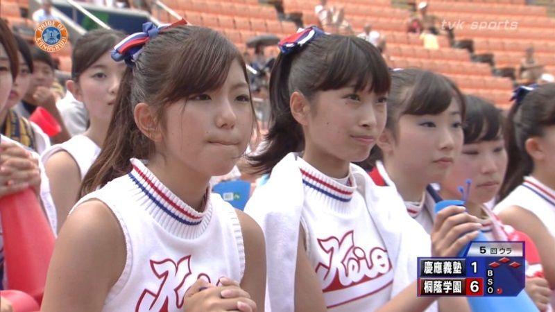 慶應のJKチアガール