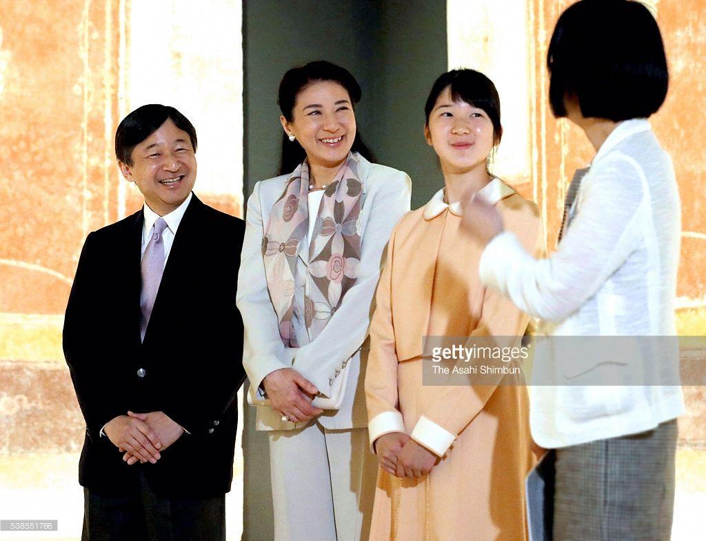 「世界遺産 ポンペイの壁画展」を鑑賞された皇太子、雅子さま、愛子さま