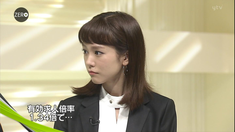 「NEWS ZERO」に胸元の開いた衣装で出演した桐谷美玲