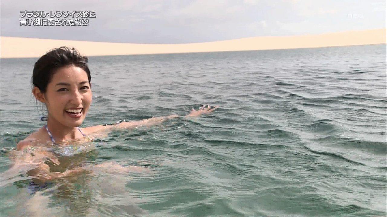 「日立 世界ふしぎ発見!」、水着でレポートするミステリーハンターの大杉亜依里